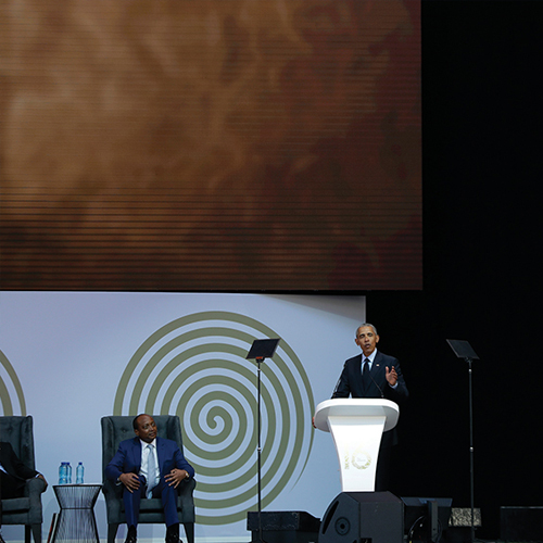 Obama Speaks At Nelson Mandela's Memorial